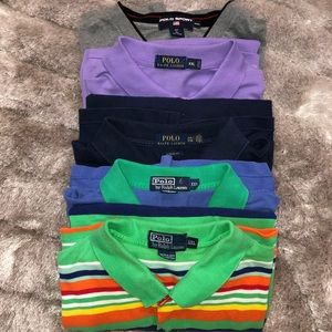 LOT OF 5 Vintage POLO Ralph Lauren Sport Polos XXL